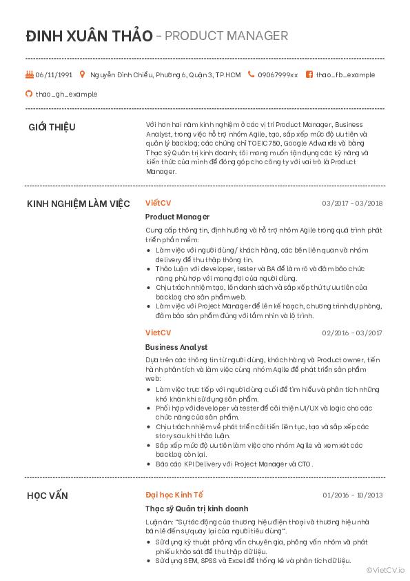 Mẫu CV Cách điệu